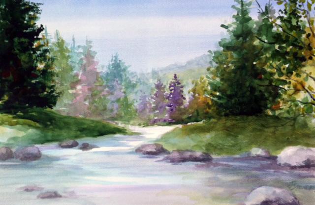 Colorado 20 x 30 Watercolor