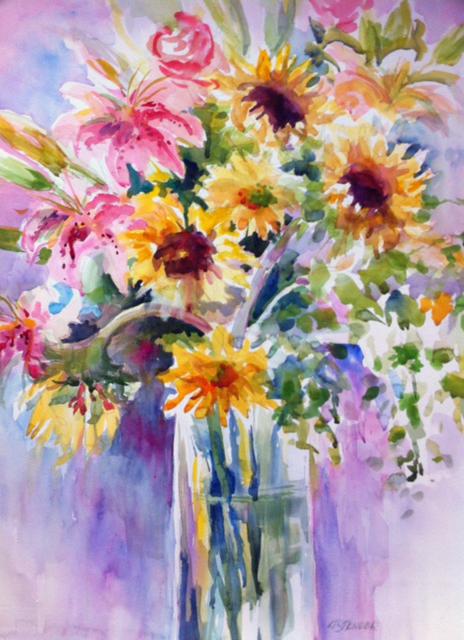 Spring Still Life 20 x 30 Watercolor
