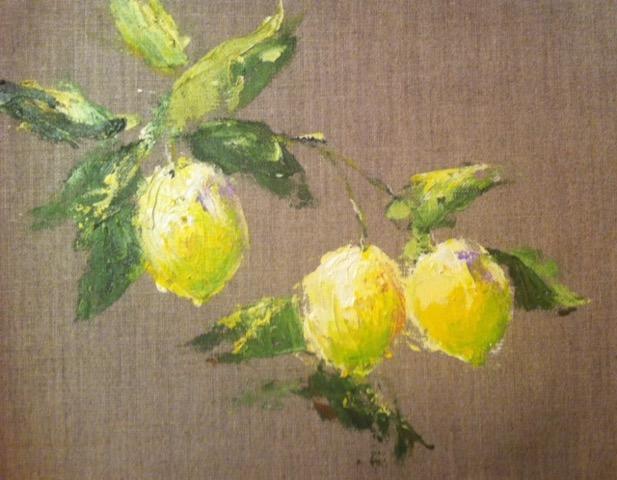 Limone 14 x 16 Acrylic on Linen