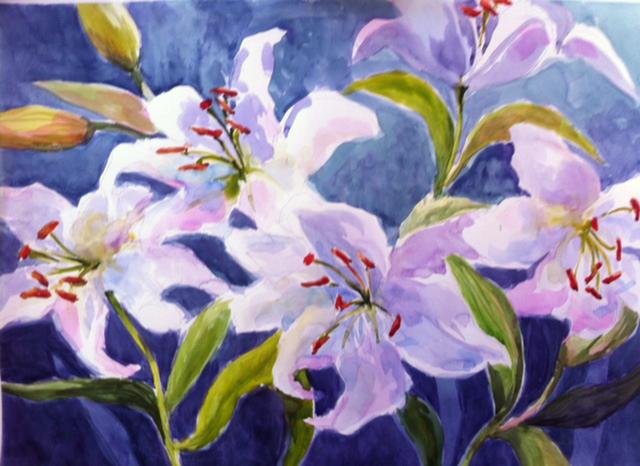 Casa Blanca's 20 x 30 Watercolor