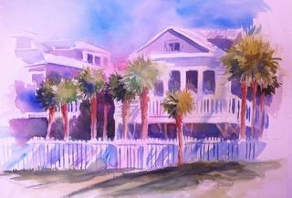 Beach House, 20 x 30 Watercolor