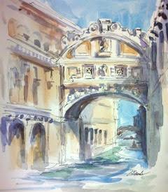 Venice, Italy 10 x 12 Watercolor