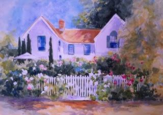 Napa Garden 20 x 30 Watercolor