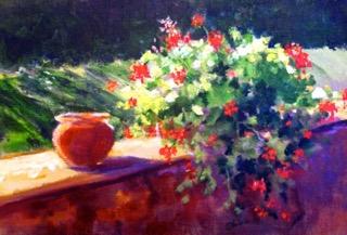 Autumn Light, Tuscany 10 x 14 Acrylic