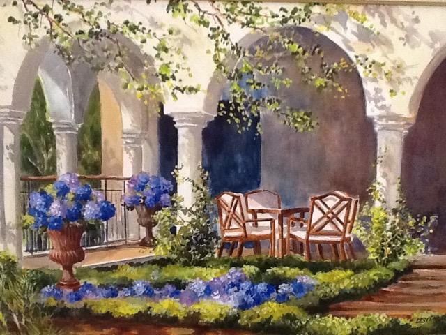 Sea Island Veranda 20 x 30 Watercolor