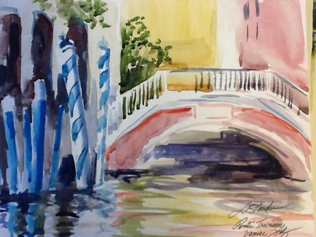 Ponte, Venice Italy 10 x 14 Watercolor