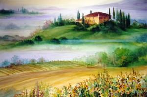 """Tuscan Morning"" Watercolour"