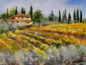 """Dievole Vineyard, Tuscany"" Acrylic"