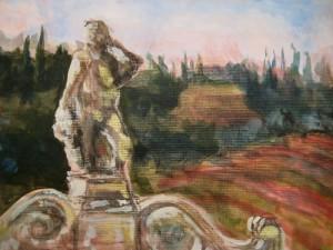 """""""Dievole, Tuscany"""" Acrylic"""